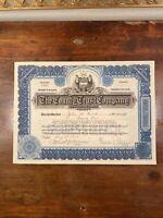 Western Power Corporation Stock Certificate
