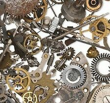 Watch Parts Pieces Gears Steampunk Vintage Altered Art Jewelry Lot of 20 Grams