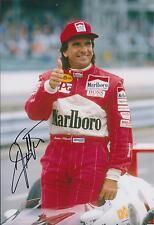 Emerson FITTIPALDI Autograph SIGNED Marlboro Racing 12x8 Photo AFTAL COA