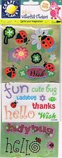 Docrafts Craft planet metallic sticker 3 sheet pk ladybirds flowers insects bugs