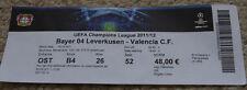 old TICKET CL Bayer Leverkusen Germany Valencia CF Spain