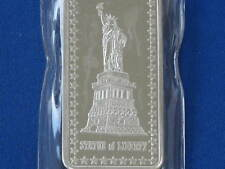 1973 Hamilton Mint Statue Of Liberty HAM-416 Silver Art Bar B0454