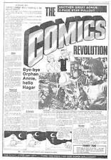 COMICS REVOLUTION: 1974 Tabloid insert, Superman Tarzan, Robert Crumb
