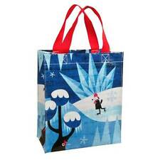 """Blue Q """"Snowy Day"""" lunch tote bag by Roman Klonek ice skating dog recycled eco"""