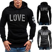 Fashion Men Winter Slim Hoodie Warm Pullover Sweatshirt Hooded Coat Outwear Tops