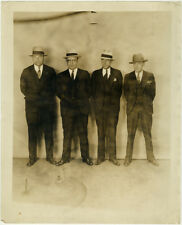 Photo Vintage Gangster Bertillon identification Policière Police Usa Vers 1930