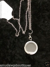 Twist Sparkle Memory Locket Stainless Steel Chain Included Free Ship 30mm Large