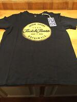 Jack /& Jones Boys Splatter t shirt in burgundy age 7-16