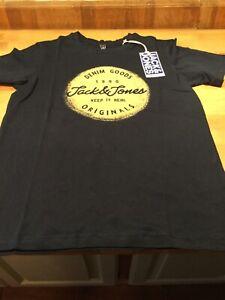 Jack & Jones Boys navy Torino T shirt ages 7-16 years