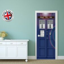 DS5 DOOR FRIDGE CUBOARD SKIN COVER TARDIS DR WHO STICKER WRAP SCENERY VIEW MURAL