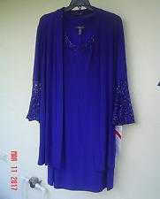 NWT R & M RICHARDS BLUE LACE JACKET DRESS SIZE 20 W WOMEN $108