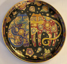 Laurel Burch Cat Plates Franklin Mint Flowering Felines Collector 1994
