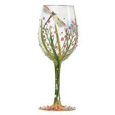Lolita Gift Boxed 'DRAGONFLY' Wine Glass Gift Hand Painted Nature Diamante Bugs