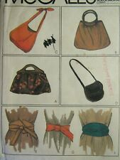 Amazing VTG 79 McCALLS 6969 Misses Bags & Belts PATTERN