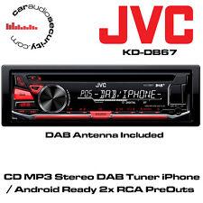 JVC KD-DB67 - CD MP3 Estéreo sintonizador DAB iphone/android listo Inc DAB Antena