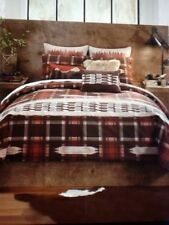 NEW CROSCILL WAGNER Lodge Themed King Comforter Set, NIP
