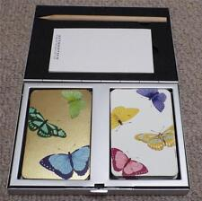 """BUTTERFLIES - DOUBLE PACK OF """"AUTHENTICS"""" PLAYING CARDS IN PRESENTATION TIN"""