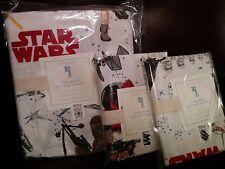 3p Pottery Barn Kids Star Wars THE FORCE AWAKENS  Duvet Cover Shams full / queen