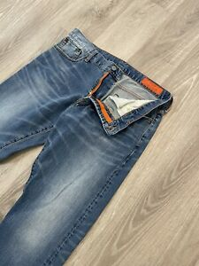 Jean Shop Mens Jim  Selvedge Skinny Slim Fit Gray Jeans Sz 36x28