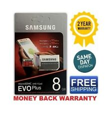 Samsung EVO MB-MC8 DA/AM Plus 8GB Micro SD Card U3 With Adapter Free Shipping