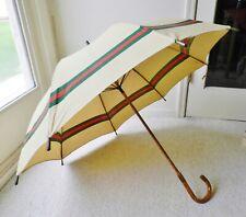 Vintage Early Gucci Parasol Umbrella Bamboo Handle Italy