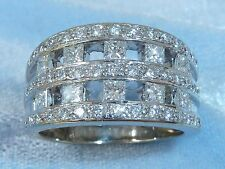Vintage 14K White Gold Ring, 55 Diamonds TCW 1.50, Size 8.5, *Written Appraisal*