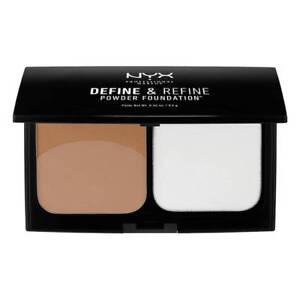 NYX Define & Refine Powder Foundation 9.5g DRPF03 Golden - NEW Sealed