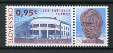 Slovakia 2017 MNH Stamp Day 1v Set + Label Architecture Stamps