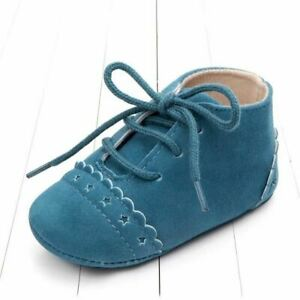 One Pair Baby First Walk Girl Boy Soft Leather Walker Anti-slip Shoes Moccasins