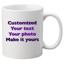 Coffee mug personalized Custom Photo Text Logo Name Printed Gift Ceramic Cup