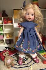 Blue Boneka Embroidered Dress 4 Kish Tiny Riley & Dolls of similar sz 15cm Sold7