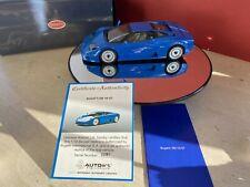 bugatti eb110 gt blue 1:18 autoart