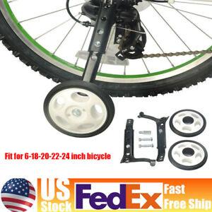 Black 24/'/' Kids Bicycle Wheels Universal Training Bike Children Auxiliary Wheels