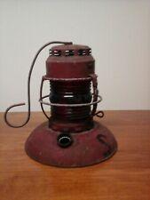 "Vintage Sewer Division Traffic Guard Lamp Light Kerosene City Of St Louis 8""×7.2"