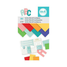 We R Memory Keepers - Cardstock Pad - 3 x 5 - Multicolored - 80 Sheets