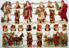 Glanzbilder Oblaten ~  ef 7331 Weihnachten Nikolaus Scrap Albumbilder Poesie