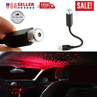 Car Interior Roof LED Atmosphere Red Light USB Charge Floor Decor Lamp Accessory