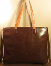 The Gap Brown Patent Leather XL Tote/Briefcase Bag