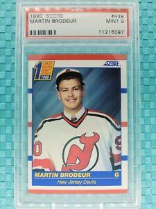 1990-91 Score US Martin Brodeur Rookie Card #439 PSA 9 Mint + Bonus