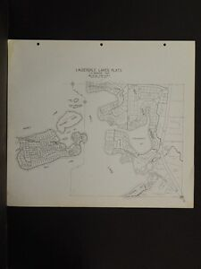Wisconsin Walworth County Map 1966 Lauderdale, Mill Lake Double Sided P4#48