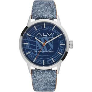 Womens Wristwatch ALV By Alviero Martini ALV0045 Leather Blu NEW