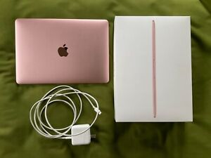 EXC 2017 ROSE GOLD 12 INCH APPLE MACBOOK LAPTOP 256GB SSD 8GB RAM MNYM2LL/A PINK