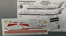 1/144 Liveries Unlimited TWA DC-9 / MD-80 Decals A4-116