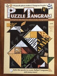 Puzzle Tangram by Blue Opal 110 Puzzle Pieces makes 2 Tangram Puzzles - Safari