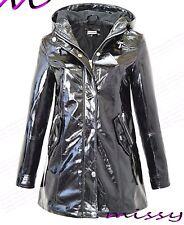 Ladies WATERPROOF COAT Festival Rain Mac coat Womens Jacket Size 8 10 12 14 16 n