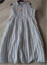 EX Fat Face Suki Ivory Mix Stripe Lightweight Cotton Lined Shirt Dress Size 16 16