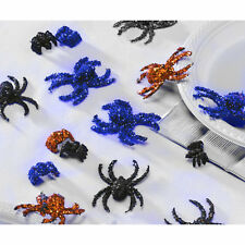 Haunted Halloween Party Sparkling Glitter Spiders Plastic Table Sprinkles