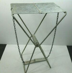 Vintage Folding Metal Hunting Fishing Camping Chair Stool