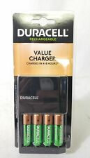 Duracell Fastest Value Charger with Four Rechargeable AA4 Batteries