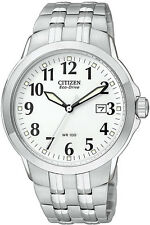 Mens Citizen Eco-Drive Railroad Big Numbers with Date Watch BM7090-51A